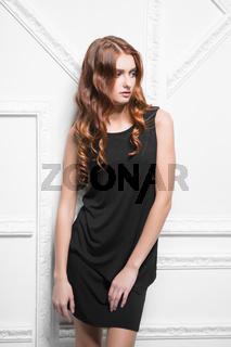 Portrait of pensive woman