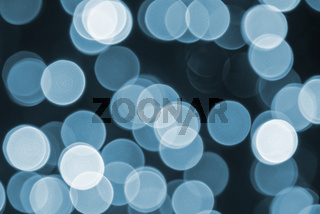 Blue Retro Lights Background, Party, Celebration Or Christmas Texture