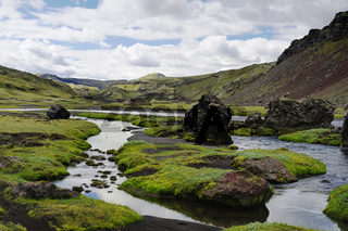 Eldgja canyon, south Iceland