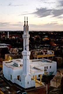 Modern mosque near Al-Qasr old town, Dakhla oasis, Egypt