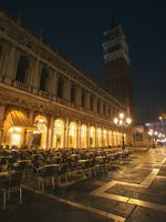 evening view of the abandoned St. Mark's Square