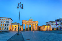 Berlin night city skyline at Brandenburg Gate (Brandenburger Tor), Berlin, Germany