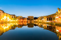 chinese ancient villages at night