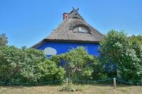 die Blaue Scheune in Vitte,Insel Hiddensee,Ostsee,Mecklenburg-Vorpommern,Deutschland