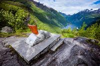 Geiranger fjord observation deck, Norway.