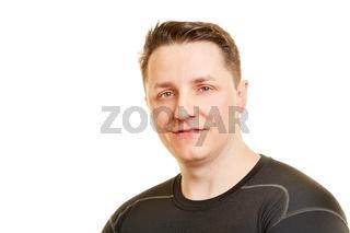 Portrait von einem sportlichen Mann