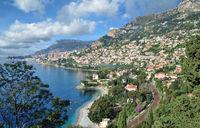 Blick auf Monaco an der franzoesischen Riviera,Cote d`Azur,Frankreich