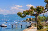 Torri del Benaco am Gardasee - Torri del Benaco on Lake Garda in Italy