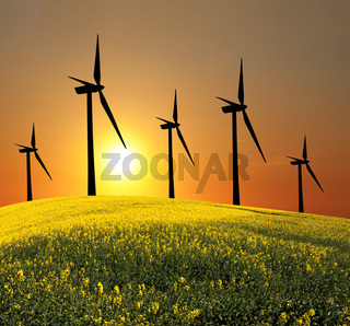 Wind turbines (alternative energy source