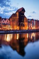 Gdansk Crane in the Evening