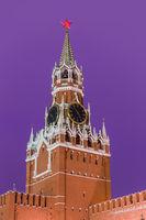 Spasskaya tower in Kremlin - Moscow Russia