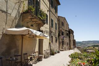 Ansicht von Pienza, Orcia Tal, Toskana, Italien