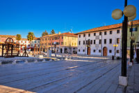 Central square in town of Palmanova colorful architecture view