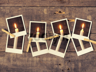 All candles burning, Advent background