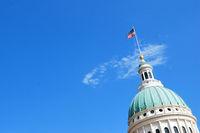 St. Louis Missouri Capitol against a sky.