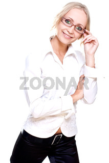 business woman in a glasses