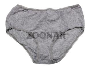 Women's rural cotton gray washed panties