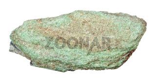 raw Paragonite stone isolated on white