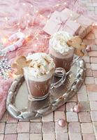 Heisse Schokolade mit Sahne