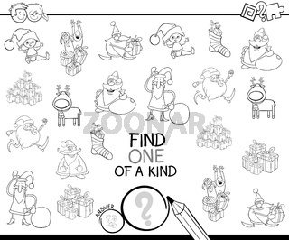 Xmas one of a kind game coloring book