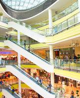 Interior of shopping mall, Sofia
