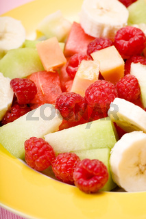 plate with several fruits