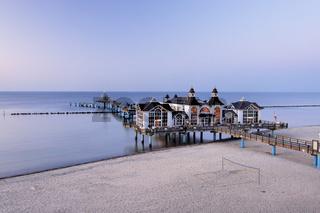 Am Strand von Sellin auf der Insel Rügen