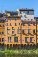 Apartment building that faces the Arno River in Florence