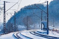 Passenger platform by Trans Siberian railway.