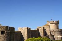 Alte Stadtmauer in Dubrovnik. Kroatien