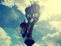 Old street lamp in London