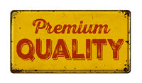 Vintage rusty metal sign on a white background - Premium Quality