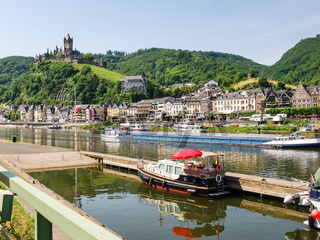 waterfront of Cochem city in summer day