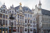 Houses of the famous Grand Place .