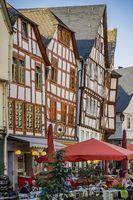 Limburg an der Lahn, Deutschland, Altstadt mit Fachwerkhäusern, hier am Bischofsplatz