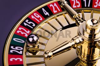 Zylinder eines Roulette Glückspieles