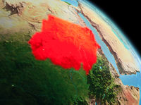 Morning over Sudan on Earth