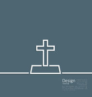 Logo of gravestone in minimal flat style line