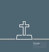 Logo of gravestone in minimal flat style line