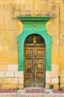 Traditional maltese door