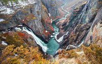 Voringsfossen waterfall, Norway. HDR