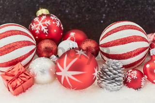 Rote Weihnachten Dekoration