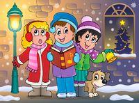 Christmas carol singers theme 5