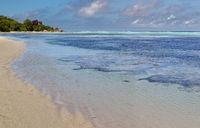 Strand auf La Digue