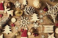Rustic Christmas Flat Lay, Instagram Filter