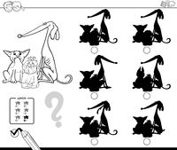 dogs shadows educational game color book