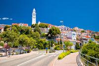 Town of Novi Vinodolski street and landmarks view