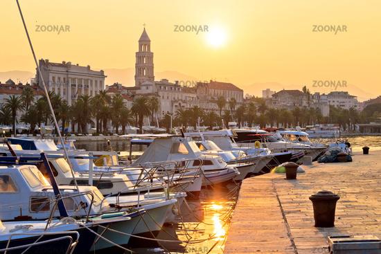 Golden sunrise at Split waterfront