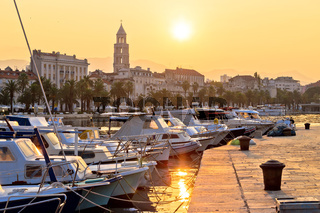 Golden sunrise at Split waterfront