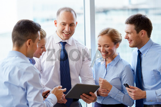 business team with tablet pc computer at office